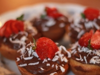 Strawberries cupcakes