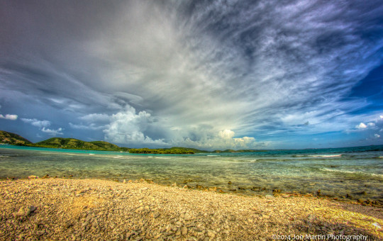 Beautiful fine art landscape photograph of the ocean in Puerto Rico