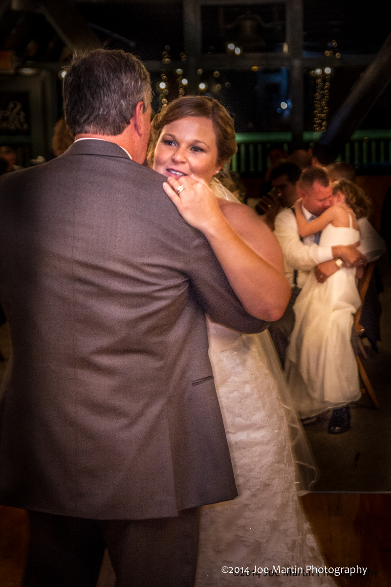 Father daughter dance at a southern NH wedding.