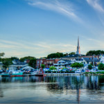 Photos of a Maine city using title shift lens