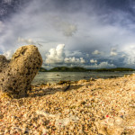 Landscape photo of a beach in Purtio rico
