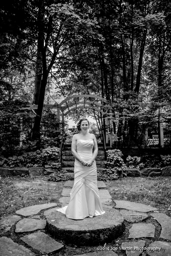 Bride waiting for her bride at a same sex wedding