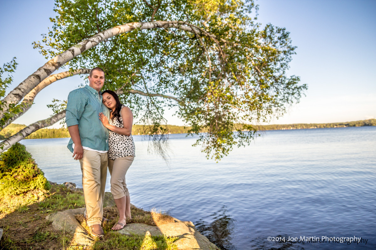 Newlyweds Engagement Photo Shoot In Franklin, New Hampshire