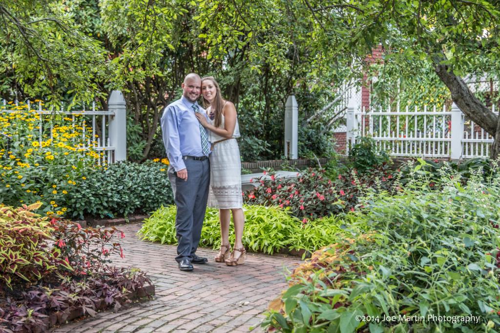 Graden photo of a young wedding couple