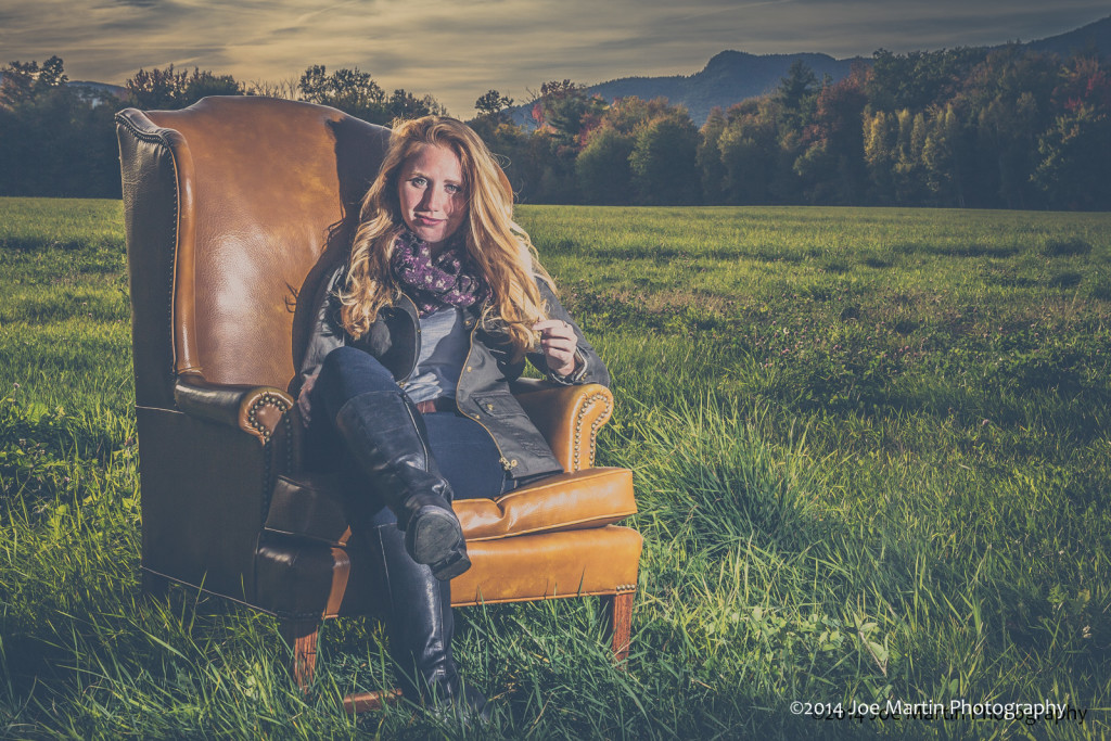 Love using chairs for posing.  It makes the subjects
