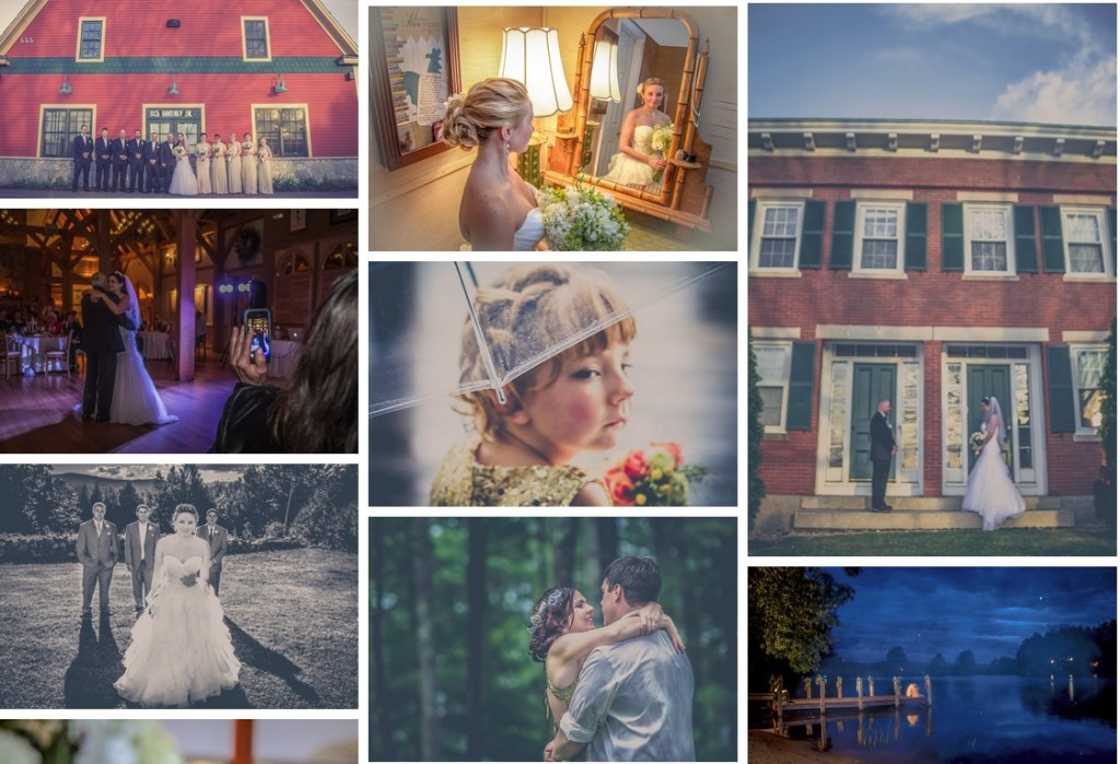 Wedding photo collage.