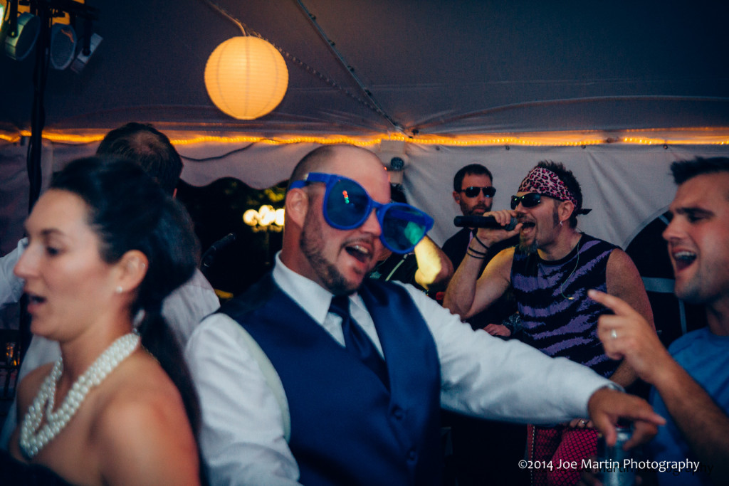 Gazpacho. jamming in the background and the groom loves it.