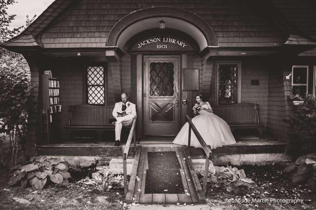 Love this moody wedding photo. Taken after the ceremony