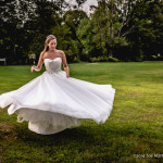 Image of a bride spinning