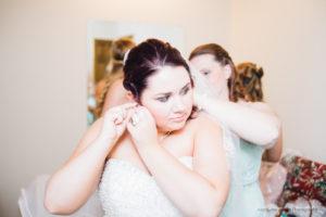 Bride at NH wedding