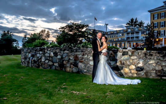 Wedding at Mountain View Grand with a bridal portrait in front