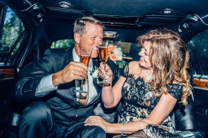 cheers in the limo