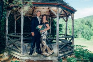 posed wedding photo after the i dos