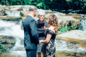 river side wedding ceremony in NH