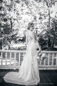 bride poses for portrait