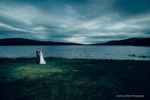 moody bridal photo of a young couple