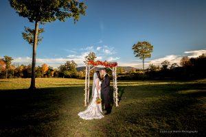 Bridal portrait after a weddign at Tumbledownfarms