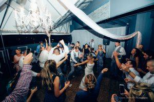 Dancing it up at a wedding