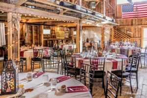 Photo of the inside of The New Hampshire wedding venue Tumbledown Farms