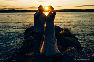 Sunset wedding photos at The Margate Reosrt in Laconia,NH