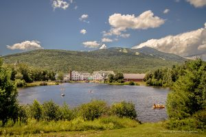 The pond at Waterville Valley wedding venue