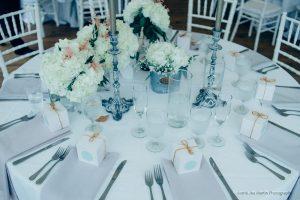 Wedding details from a Maine wedding venue