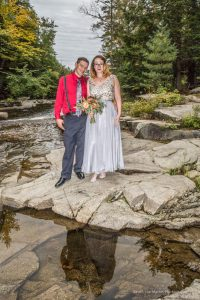 Wedding photo taken at the Jackson Falls