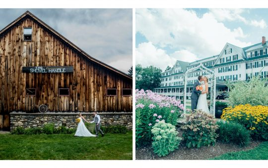 A collage of twoBest wedding venues in New Hampshire