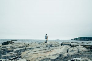 couple posing for a photo on Peaks Island Maine