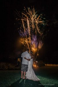 fireworks after a wedding at the margate resort