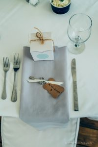 table setting at Harbor view at Jones landing Maine
