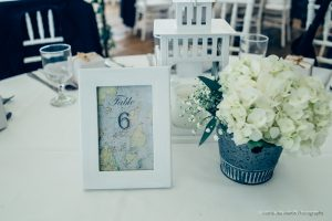 table setting at a wedding venue