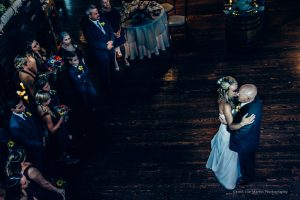 couple dancing after the wedding at Zorvino Vineyards