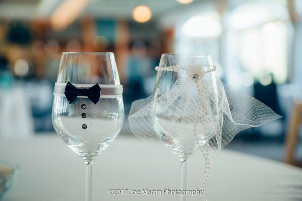 Bride and good champagne glasses