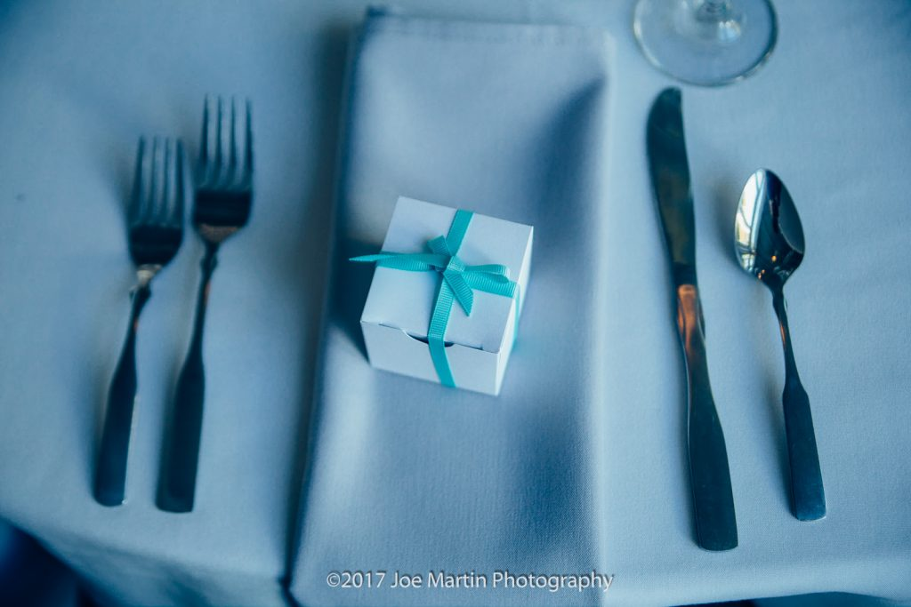 Table settings from the wedding