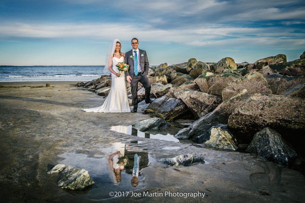 fine art wedding photo taken at Rye Beach- New Hampshire