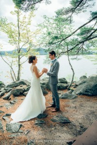 getting married at camp cody -freedom NH (1)