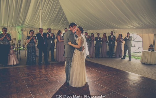 s couple has their First dance at The Wentworth Inn Wedding Venue