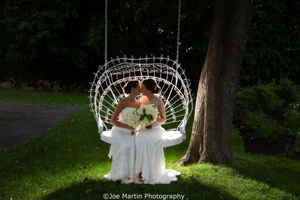 same sex marriage outside a Massachusetts wedding venue